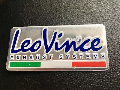 Leo Vince Exhaust Sticker Aluminium 3D Heat Proof Resistant Decal Ducati Ktm • 3.29£