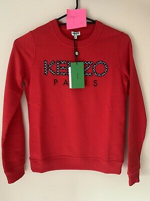 AU300 • Buy Kenzo Red Crewneck Jumper- Brand New With Tags