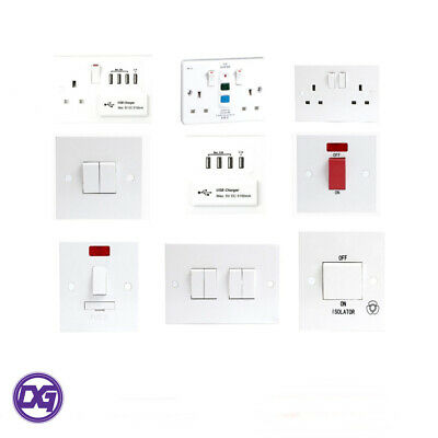 £6.45 • Buy Jegs Electrical Sockets And Switches White Gloss Premium Full Range