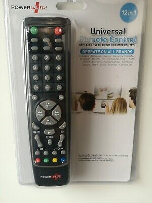 12 In 1 Universal Remote Control Assorted TV Monitors VCR Sky Sat Cable Hi-Fi BE • 3.99£