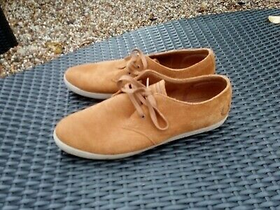 Men's Tan FRED PERRY Suede Lace Up Shoes UK 9 • 27.50£