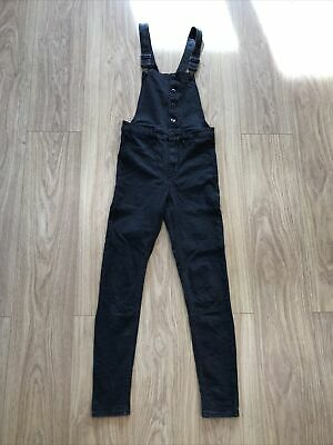 Girls Dungarees Age 10-11 Years (26 Inch Waist) Black H&M IN514 • 9.99£