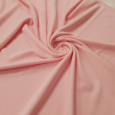 2 Metre Length Baby Pink Liverpool Stretch Fabric Jaquard Clothing Tops • 5.76£