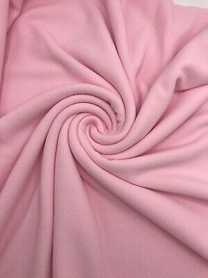 4 Metre Length Baby Pink Liverpool Stretch Fabric Jaquard Clothing Tops • 11.52£