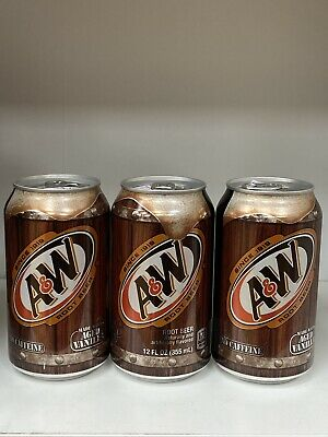 A&W Root Beer X 3 Cans 355ml Caffeine Free American Drink • 7.50£