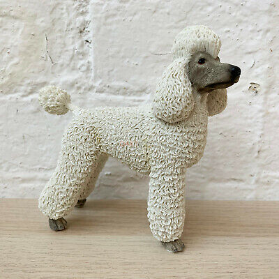 £15.99 • Buy Lifelike Standing White Poodle Pet Indoor Ornament Statue Figurine Resin Gift
