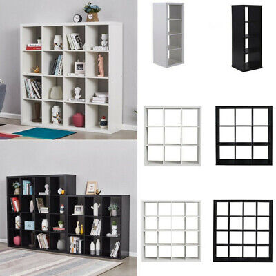 2, 4, 9,16 Cube Bookcase Shelving Display Shelf Storage Unit Wooden Cabinet UK • 15.99£