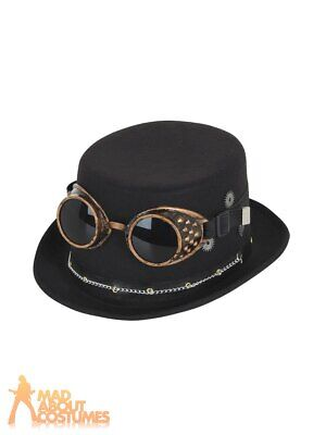 £9.49 • Buy Steampunk Top Hat Victorian Mens Ladies Adults Fancy Dress Costume Accessory