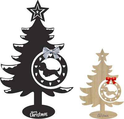 Dandie Dinmont Christmas Tree And Bauble Xmas Dog Decoration Table  • 21.99£