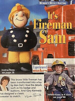Alan Dart Fireman Sam Toy & Gary Kennedy Sweater Knitting Pattern From Ww • 7.95£