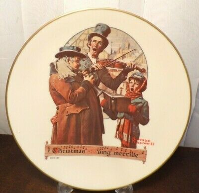 $ CDN4.54 • Buy Norman Rockwell 1976 Collectable Plate Christmas Trio Gorham China Sing Merrilie