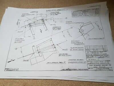 Ford GT40 Monocoque Chassis Plans Set Ot 4 • 60£