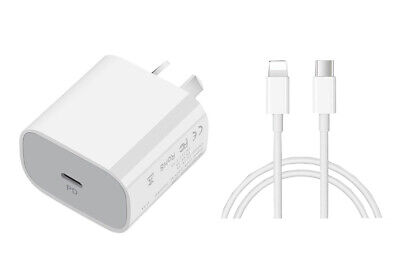AU18.95 • Buy IPhone 12 11 Pro Max 20W PD USB-C Fast Wall Charger Adapter Cable