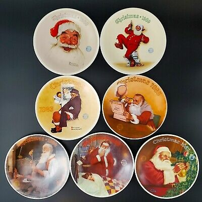 $ CDN101.90 • Buy Norman Rockwell Christmas Collectors 1983-1989 Limited Edition Christmas Plates