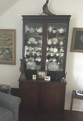 Vintage Antique  Glass Display Cabinet Bookcase • 122£