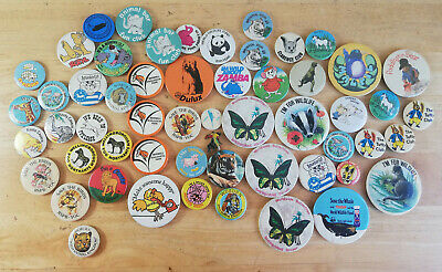 Large Bundle Of 57 X Animal / Zoo Themed Retro Pin Badges • 39.99£