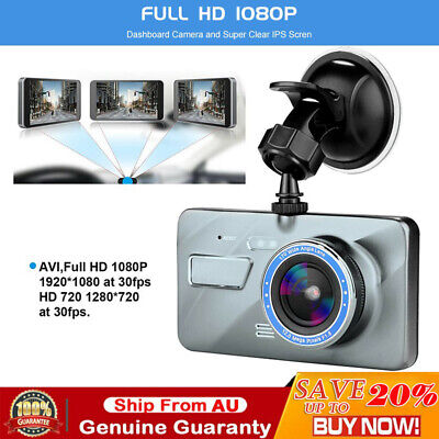 AU47.99 • Buy 1080P Car Dash Camera Front And Rear Dual Lens DVR Video Recorder Night Vision