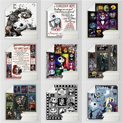 The Nightmare Before Christmas Blankets Thicken Fleece Blanket Sofa Throws Gifts • 27.29£