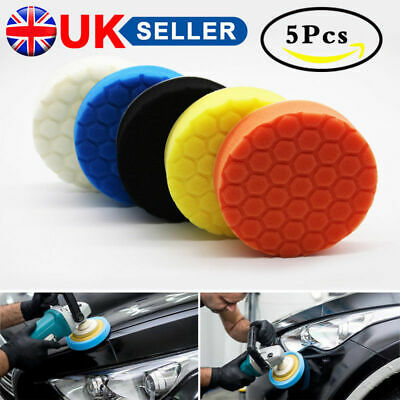 Set Of 5x 6  6 Inch 150mm Hex Logic Type Polishing Pads DA Rotary Polisher UK • 9.23£