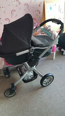 Graco Travel System- Frame, Pushchair/carseat/pram/raincover/isofix  • 100£