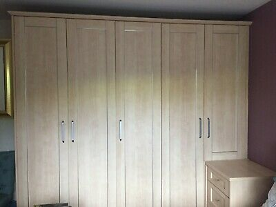 Schreiber Fitted Bedroom Furniture- Wardrobes, Wide Drawers, 2 Bedside Chests • 180£