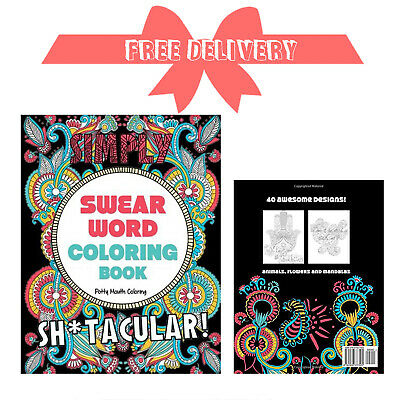 Adult Colouring Books Swear Word Release Your Anxiety Paperback Book 40 Sweary • 5.69£