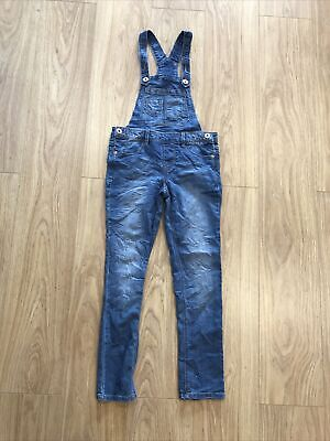 Girls Dungarees Age 10-11 Years (26 Inch Waist) Blue Spice Blue IN563 • 8.99£