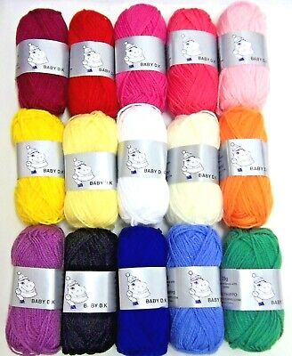 Woolyhippo DK Yarn 100% Acrylic Double Knitting Baby 25g Toy Craft Wool    • 2.10£