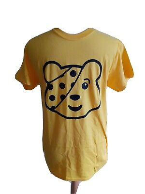 Mens BNWOT Children In Need Yellow Pudsey T-Shirt Size Small • 0.99£