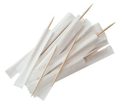 £5.95 • Buy Wooden Toothpicks Individually Wrapped Restaurant Tooth Picks Pack Of 1000