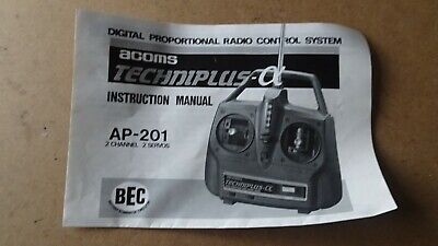 £12.99 • Buy Acoms Techniplus A Instruction Manual Ap-210 1/10 Scale  Free Uk Post