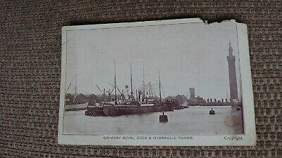 £3 • Buy Grimsby Royal Dock And Hydraulic Tower Real Photo Postcard