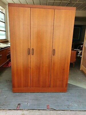 G Plan Quadrille 3 Door Teak Wardrobe Bifold Danish Retro Mid Century McIntosh  • 120£