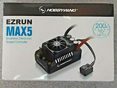 Hobbywing EZRun MAX5 V3 1/5 Scale Waterproof Brushless ESC 200A, 3-8S 30104000  • 143.04£