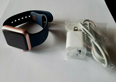 $ CDN200.50 • Buy Unused Apple Watch Series 1 42MM Rose Gold Aluminum Midnight Blue Band MNNM2LL/A