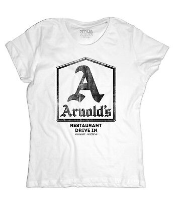 Women's ARNOLD'S Inspired Happy Days - Arnolds T-Shirt Fonzie Richie • 19.92£