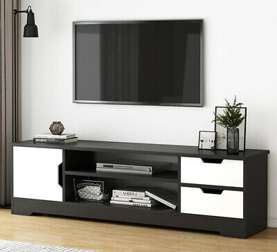 AU126.87 • Buy Delta TV Cabinet Entertainment Unit (Black & White)