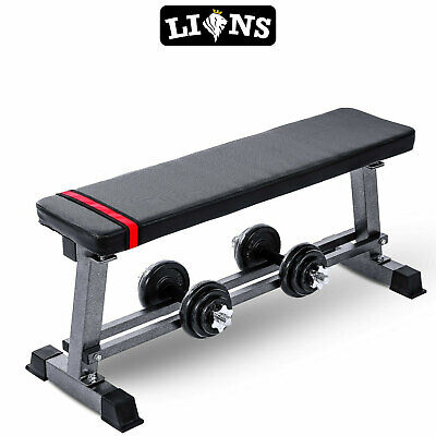 £37.99 • Buy Heavy Duty Weight Flat Bench Chest Biceps Press Fitness Weightlifting Workout