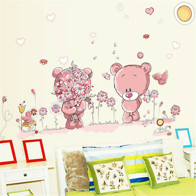Bear Wall Stickers Children Room Decor Baby Shower Adhesive For Kids Room H4 • 3.02£