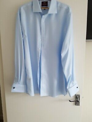 £16 • Buy Mens Slim Fit Luxury M & S Collection - Superior Double Cuff Shirt 18.5 Collar