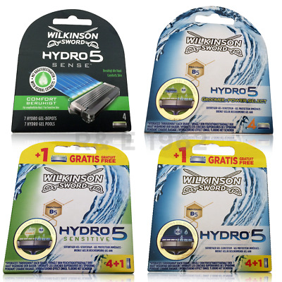 Wilkinson Sword Hydro 5 Sensitive Sense Mens Razor Blades Pack Of 1 4 8 12 UK • 7.95£