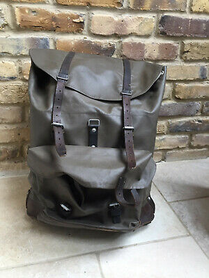 Vintage Swiss Army Rubberised Leather Backpack Bag • 64£