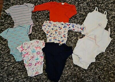 Baby Girl Next Vests - 3-6 Months - Unicorn, Rainbow. Short And Long Sleeves  • 6.50£
