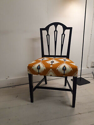 £80 • Buy Victorian Dining Sprung Chair, Newly Re-upholstered And Finished With Ethnic Mot