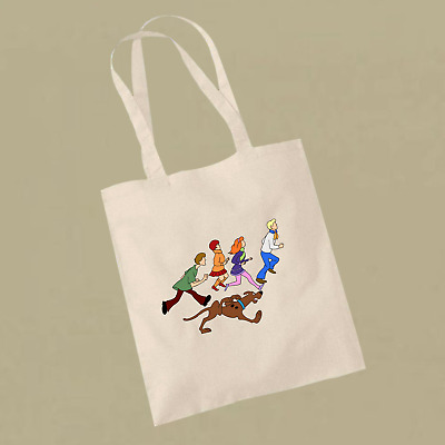 Scooby Doo And The Gang Running Away What's New Scooby Doo Inspired Tote Bag • 9.99£