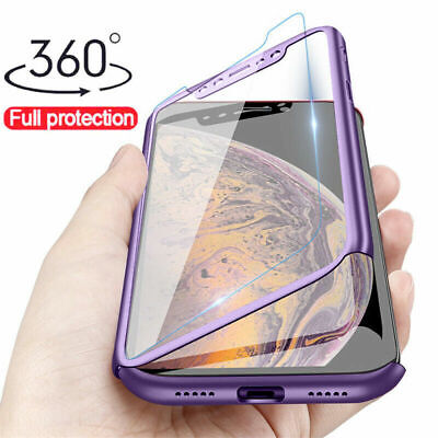 360° Full Protector Tempered Glass Case Cover For IPhone 11 Pro Max Xs XR 8 7 6S • 2.50£