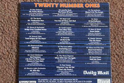 TWENTY NUMBER ONES, Daily Mail CD, 20 Tracks • 2.39£