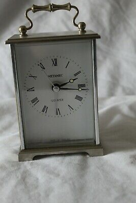 Metamec Quartz Vintage  Silver Tone Carriage Clock England Made • 4.99£