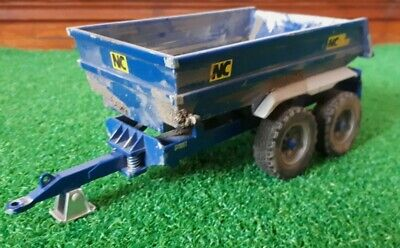 Britains NC Dump Trailer With Galvanised Mudguards Dirty Conversion *NEW* • 32.50£