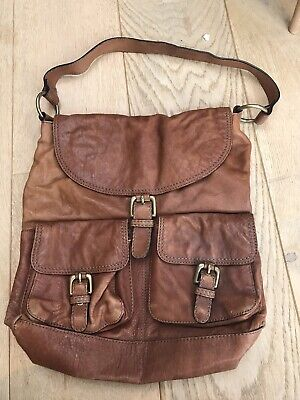 AUTOGRAPH M&S Marks And Spencer Tan Leather Hobo Slouch Shoulder Bag / Handbag  • 5.90£